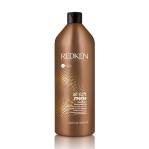 Shampooing All Soft Mega, Shampooing All Soft 1L, Shampooing cheveux secs, Shampooing Redken, Shampooing hydratant, Shampooing doux
